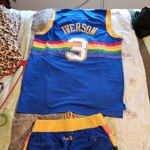 Allen iverson jersey set XL
